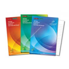 eduk8 160 Page A4 H/C Notebooks - 3 Pk (10 pk)