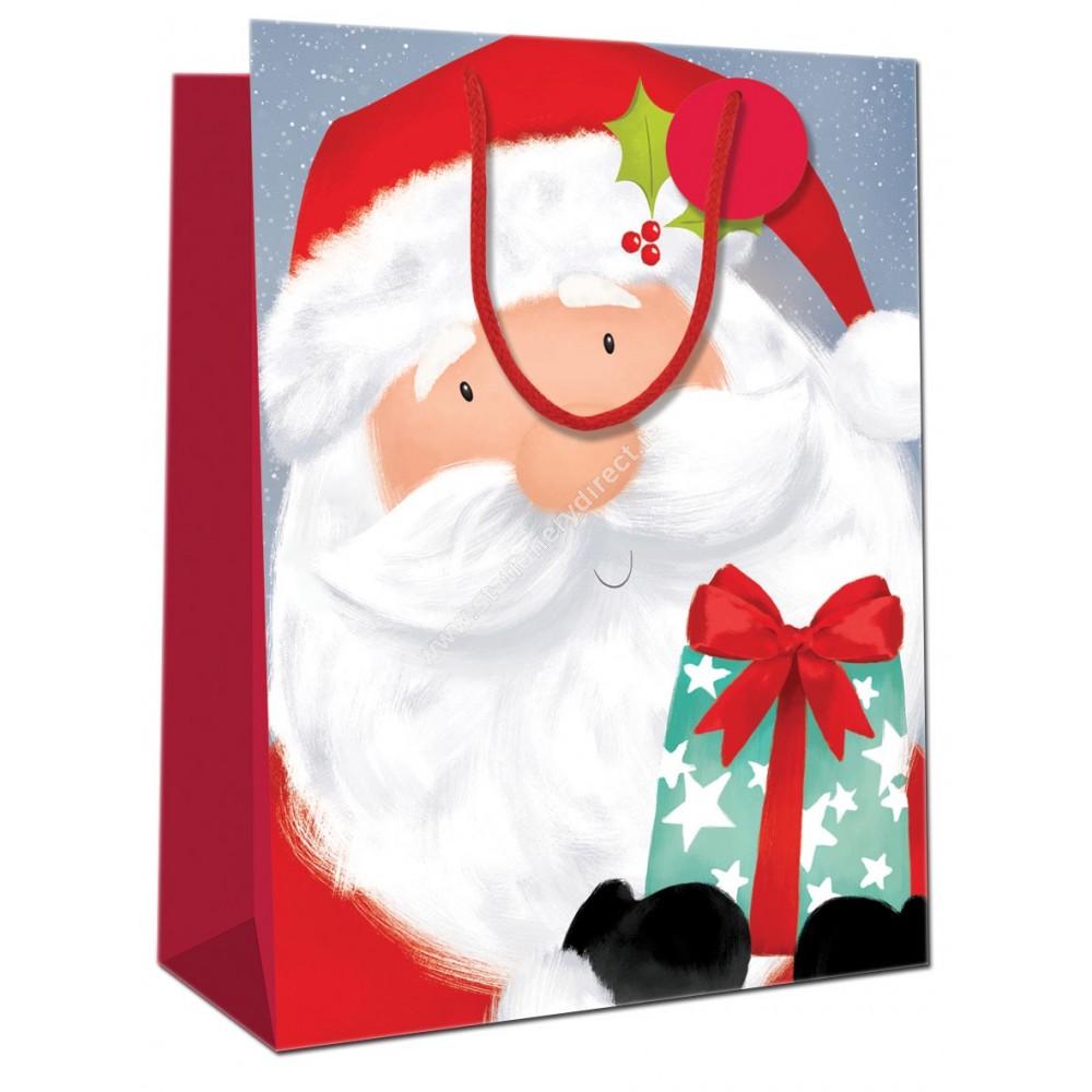 Jumbo Gift Bag Santa & Elves 2 Assorted Designs 400mm x 560mm